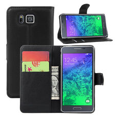 Samsung Galaxy Alpha G850F Flip Leather Case PU Wallet Cover POUCH