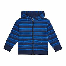 Bluezoo Kids Boys' Blue Striped Zip Through Hoodie From Debenhams