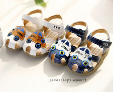 NEW Cute Infant Baby Boys Leather Sandals Shoes Summer Soft Sandals Beach Size