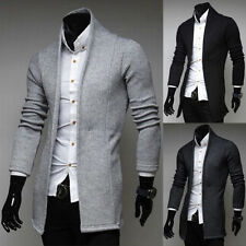 Korean Fashion Men's Casual Slim Fit Long-sleeve Shawl Knit Cardigan Coat Jacket