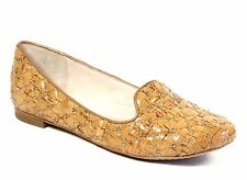 Vince Camuto Lilliana 2 Beachwood Lacqured Cork Nappa Leather Flats NEW Size 7.5