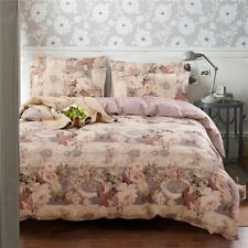 Peony Flower Duvet Doona Quilt Cover Set Bed Queen King Size Floral Cotton New