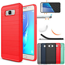 Luxury Shockproof Carbon Fiber Brushed Hard Cover Case For Samsung Galaxy C9 Pro