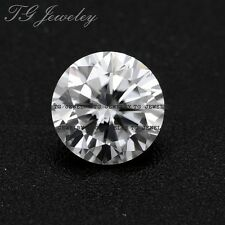 DE 6.5 mm 1 Carat Round Excellent cut Hearts and Arrows Loose Moissanite stone