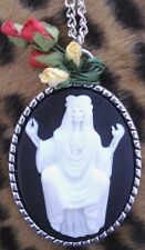 LOS MUERTOS,WHITE WITCH CAMEO NECKLACE...Goth,Lolita,Rockabilly,Steampunk,Zombie