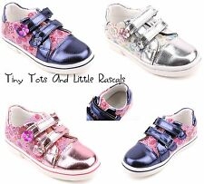Girls Toddlers Shoes Ballerina Pumps Trainers Leather Insole Sizes UK 8.5 - 12.5