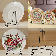 4 -12 inch Iron Easel Display Stand Bowl Plate Art Photo Picture Frame Natural