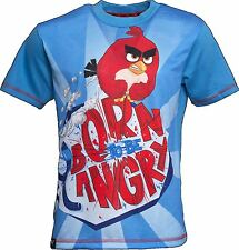 Angry Birds BORN TO BE ANGRY T-Shirt Kids Angry Bird Shirt Summer Tee