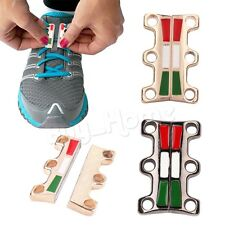 Novelty Sneaker Closure No-Tie Magnetic Casual Shoelace Shoe Buckles 1 Pair New