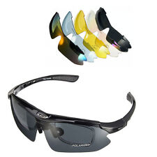 Outdoor UV400 Polarized Glasses Cycling Bike Bicycle Sunglasses Goggles 5 Lens