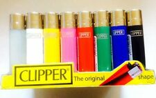 CHEAPEST NEW  GENUINE CLIPPER  REFILLABLE FLINT LIGHTERS in Plain Colours 2 / 4