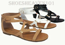 New Women's Gladiator Sandal Open Toe Flat Flip Flops Shoes