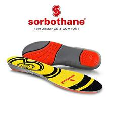 Sorbothane DOUBLE STRIKE Insoles Shock Stopper- 100% Impact Protection, USA Made