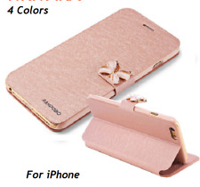 Leather Mobile Phone Case For iPhone Stand Flip Cover Pouch Skin Shell PAPC179