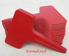 6cm x 10cm T Type Plastic Seed / Plant Labels : Red