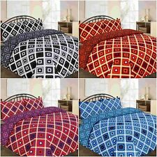 New & Modern THEO Duvet Quilt Cover Bedding Set with Pillowcases - All sizes