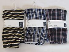 LOT OF 3 NEW WITH TAGS PAIRS OF MEN'S GAP BOXER SHORTS, SIZE LARGE