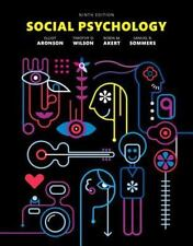 Social Psychology by Elliot Aronson Hardcover, 9th Edition (English)