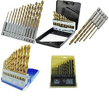 13PC HSS Metric Titanium Drill Bit Set Nitride Coated Twist Metal Wood With Case