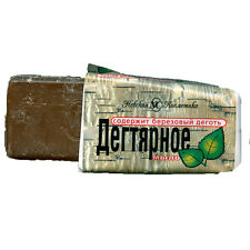 Natural Pine Tar Soap from Russian Forest Skin Hair Care Zeep Seife Savon 140gr