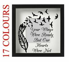 Your Wings Were Ready Vinyl Decal Sticker Box Frame IKEA RIBBA 20cm x 20cm