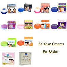 3X Yoko Whitening Lightening Facial Cream, White Facial Face, Skin Cream, 4g.