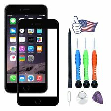 For Apple iPhone 7 Black Outer Front Screen Glass Lens Replacement Repair Tools