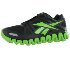 REEBOK ZIGDYNAMIC BOYS RUNNING SHOES BLACK/LIME SIZE