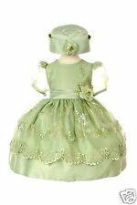 New Baby Girl & Toddler Wedding Flower Girl Formal Dress S M L XL (9-36M) Sage
