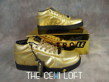 BRAND NEW Mens VLADO Low Top Shoes SPECTRO in SHINY GOLD *FRESH*