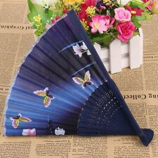 Newest Ribs Handle Silk Handmade Craft Bamboo Fan Folding Fan Silk Female Fan