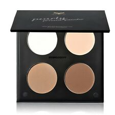 New Makeup 4 Colors Shimmer Matte Eye Shadow Palette Face Contour and Glow VGY01