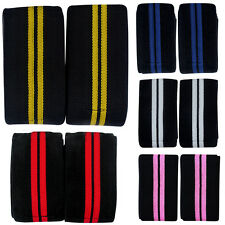 Weight Lifting Heavy Duty Knee Wraps Crossfit Training Straps Gym Power lifting