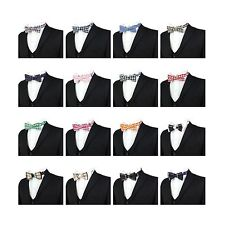Children Kids Boys Check Burberry Bow Ties Boy Tuxedo Checkered Adjustable Strap