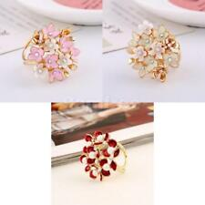 Crystal Flower Scarf Buckle Brooch Pin Rhinestone Scarf Jewelry Accessories Gift