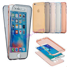 Shockproof 360° Full Body Protection TPU Clear Case Cover Skin For iPhone