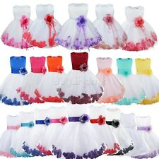 Flower Girl Kids Tutu Dress Formal Princess Party Wedding Bridesmaid Tulle Gown