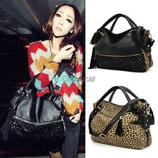 Fashion Leopard Print Bags One Shoulder Handbag Women's Handbag Leather OK02