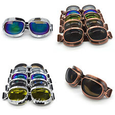 Motorcycle Goggles Motorbike Helmet Glass Pilot Goggles Retro Glasses Vintage