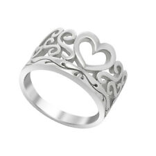 925 Sterling Silver Stackable Ring Heart Silver Ring For Women