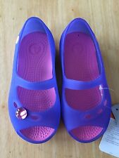 Crocs Carlie Flat Girls UltraViolet/Pink Lemonade Size C10 NEW