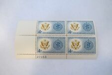 "VTG 1962 ""MALARIA ERADICATION"" 4 Cent MUH Block 4 US Postage Stamps #1194"