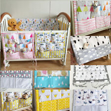 New Nordic Style Cotton Crib  Baby Diaper Toy Storage Bag Bedside Hanging Bag