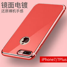 Luxury Ultra Slim Gold Plated Mirror Glossy Back Case Cover for iPhone 6 7 plus