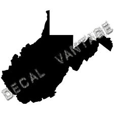 West Virginia Vinyl Sticker Decal State WV  - Choose Size & Color
