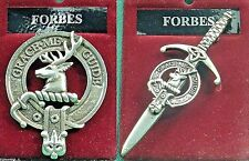 Forbes Scottish Clan Crest Badge or Kilt Pin Ships free in US