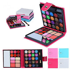 32Colors Professional Eyeshadow Shimmer Palette Cosmetic Brush Makeup Set Peachy