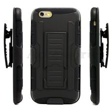 iPhone 7 Galaxy S8 Shock Proof Heavy Duty Armour Stand Case Cover With Belt Clip