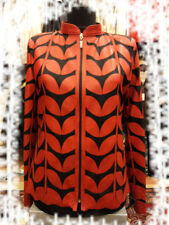 Red Leather Leaf Jacket for Women All Colors All Regular Sizes Available