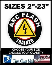 ARC Flash Trained Hard Hat Decal, Helmet Sticker Label Electrician Safety